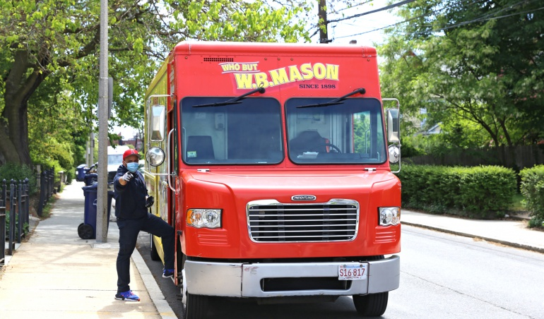 WB Mason Truck with Driver