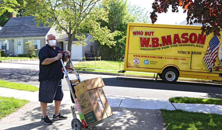 WB Mason Driver and Truck