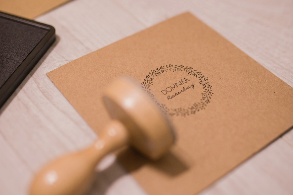 Stamp on Kraft Paper