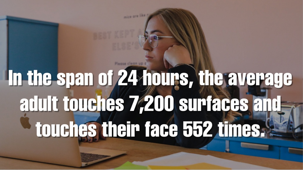 In One Day Adults Touch Surfaces and their Face Many Times
